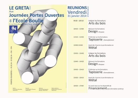 Programme des Portes Ouvertes de vendredi 31/01/2014 et samedi 01/02/2014