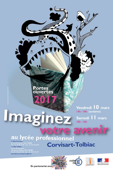 Affiche JPO 2017 lycée Corvisart-Tolbiac
