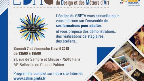 Flyer des JEMA 2018 du GRETA CDMA