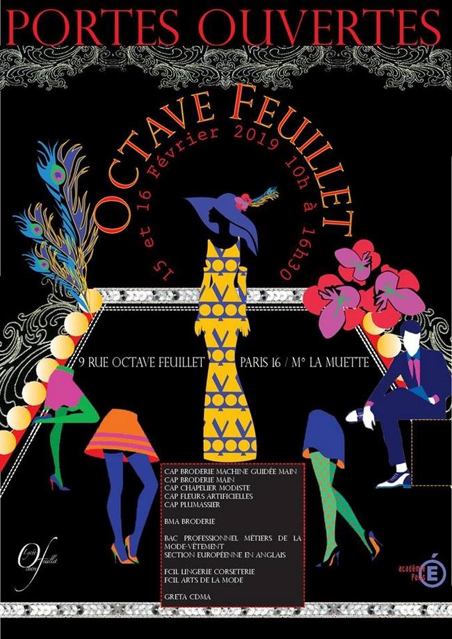 JPO 2019 affiche lycée Octave Feuillet
