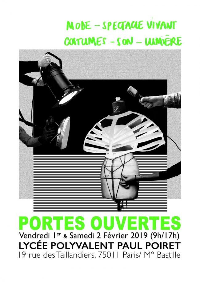 JPO 2019 affiche lycée Paul Poiret