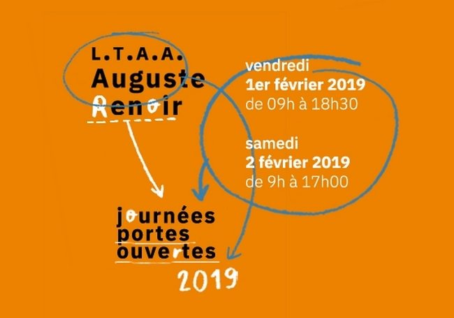 JPO 2019 affiche lycée Auguste Renoir