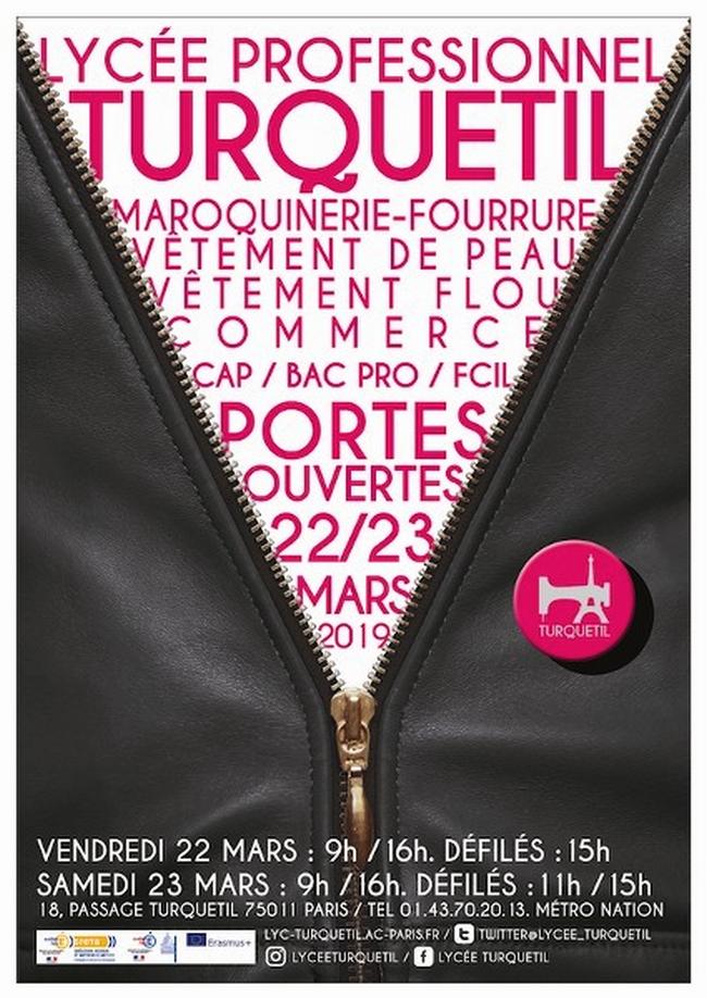 JPO 2019 affiche lycée Turquetil