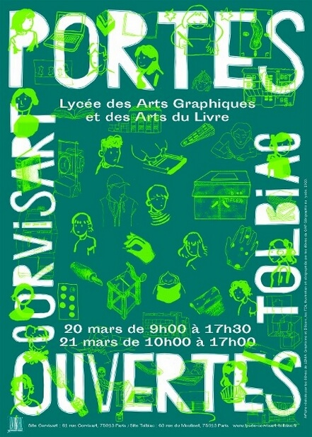 Affiche JPO 2020 lycée Corvisart-Tolbiac