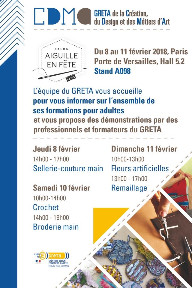 Programme GRETA CDMA Salon Aiguille En Fête 2018