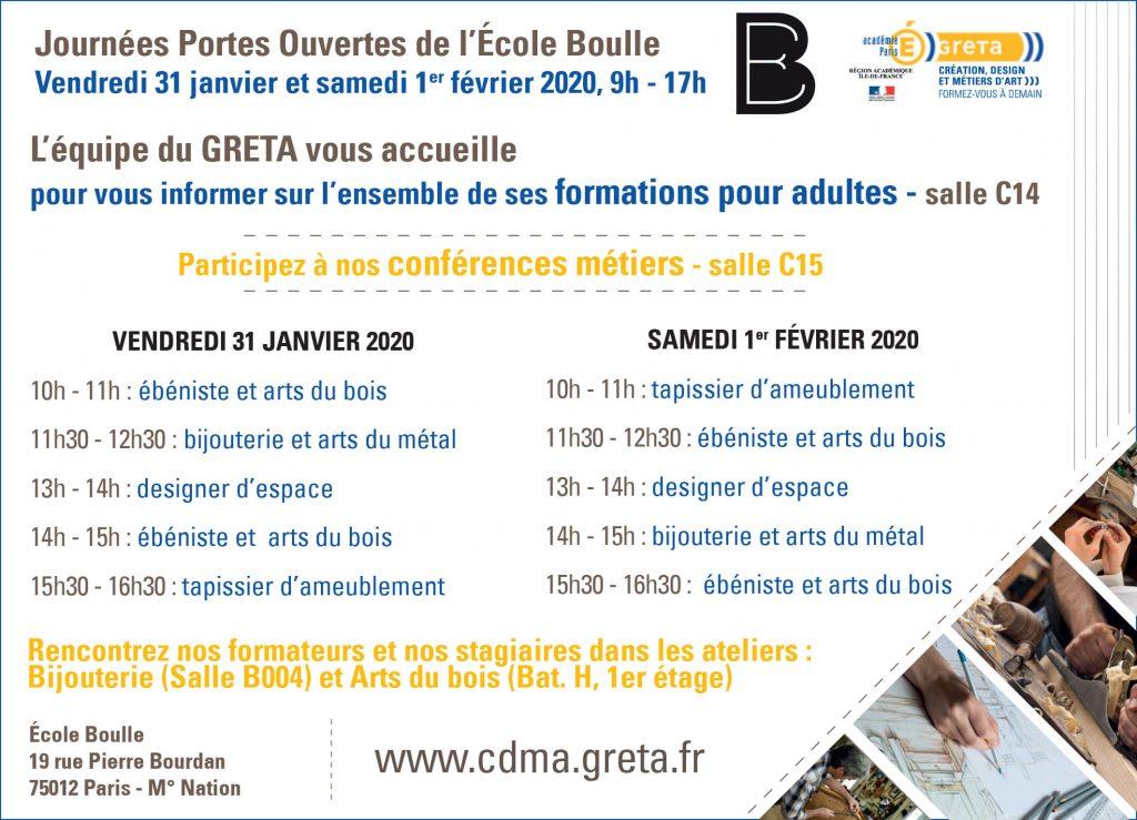 JPO Boulle 2020 - programme des conférences