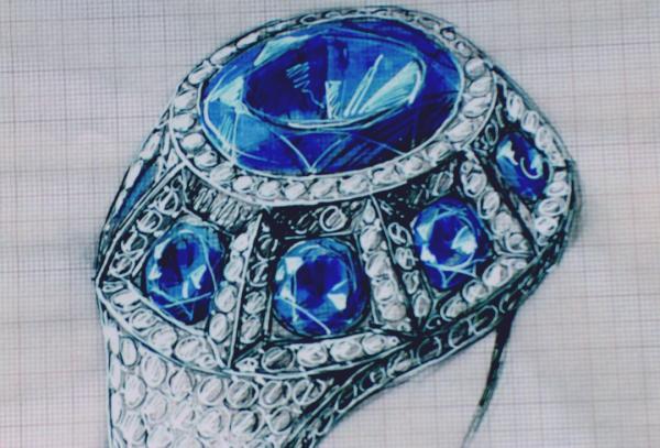 Dessin bijoux joaillerie