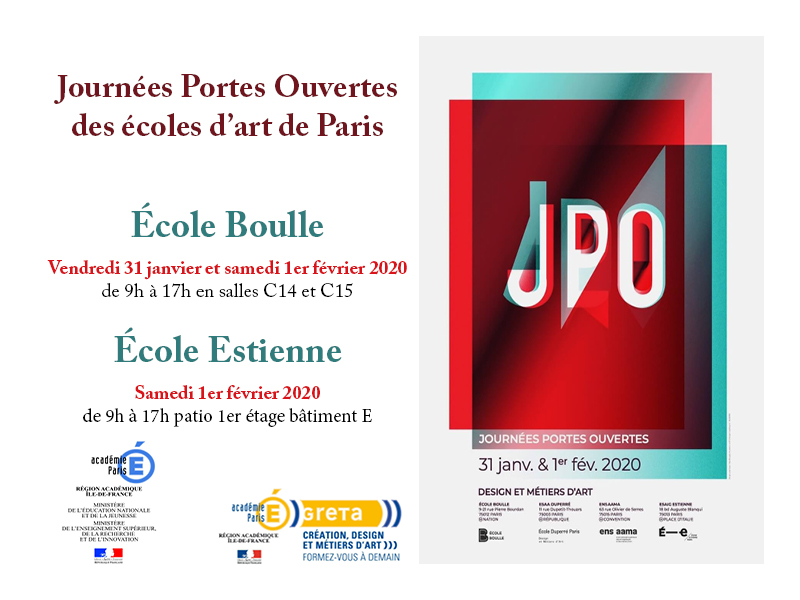 JPO Ecoles d'Art Paris 2020